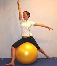 Фитбол для фитнеса женщин