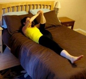 фитнес на кровати