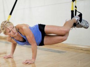 фитнес упражнения с подвесными ремнями