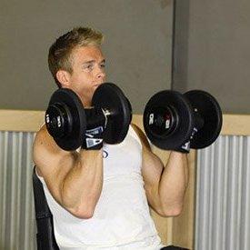 Накачать мышцы гантелями реально- жим гантелей сидя