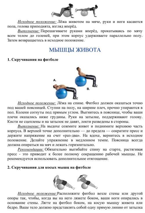 эффективные упражнения на фитболе, комплекс упражнений на фитболе в домашних условиях с фото, упражнения с фитболом для похудения, фитбол полный курс упражнений для начинающих в картинках, комплекс упражнений с фитболом