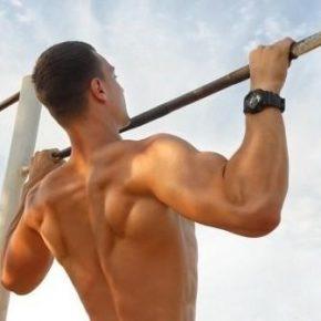 упражнения для спины- Турник- подтягивание на перекладине