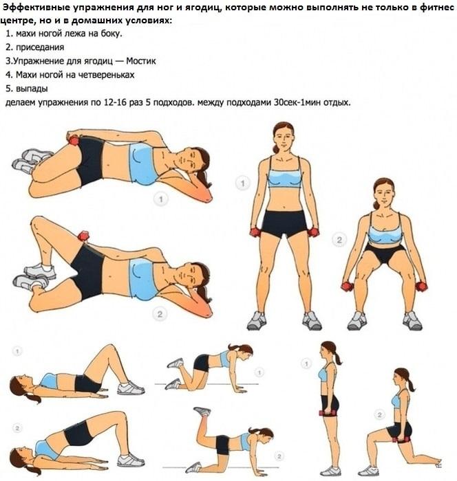 подтянутые ягодицы- упражнения для стройных ног и ягодиц