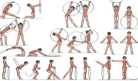 Обруч стройности хулахуп для похудения, обруч детский для гимнастики